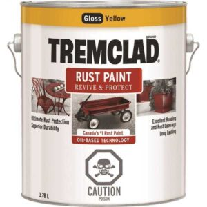 tremclad rust paint yellow