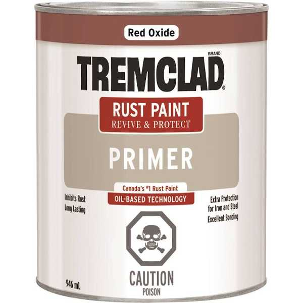 tremclad red oxide quart can