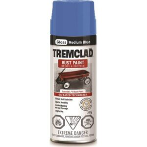 tremclad spray paint gloss blue