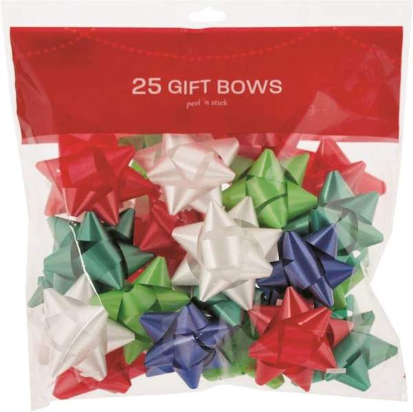 assorted colour gift bows