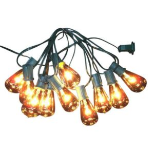 vintage style clear christmas lights