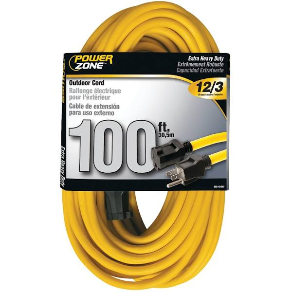 extension cord yellow 100 feet