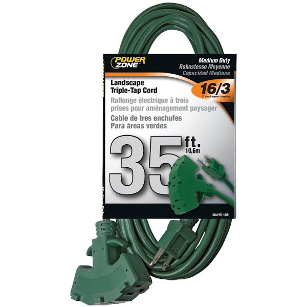 35 foot extension cord outdoor green