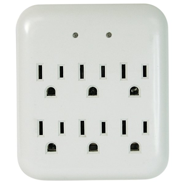 six outlet surge protector