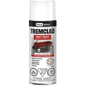 tremclad spray paint gloss white